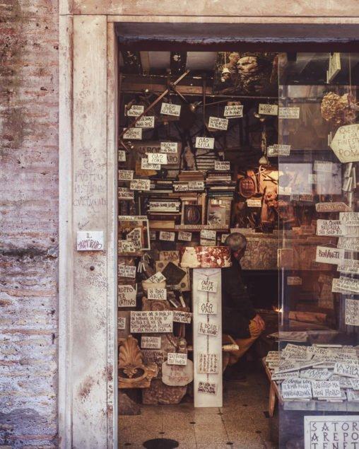 La bottega del marmoraro, Roma