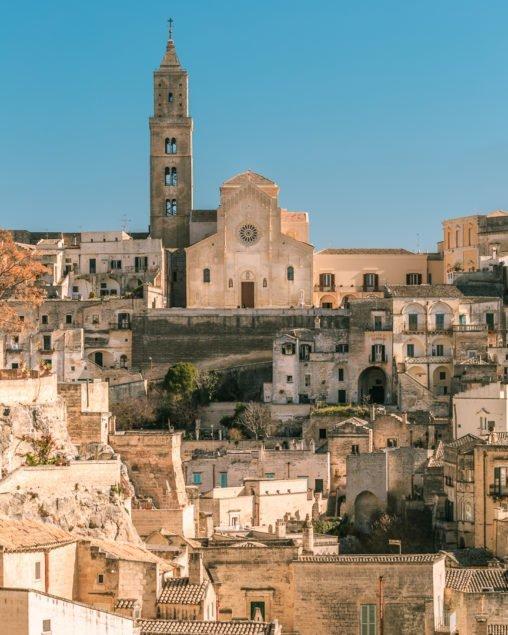 Matera, panorama con Cattedrale