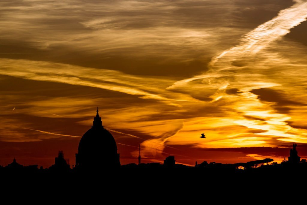Fotoquadro skyline Roma